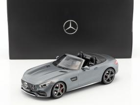 Mercedes-Benz AMG GT C Roadster Baujahr 2017 designo selenitgrau magno 1:18 Norev