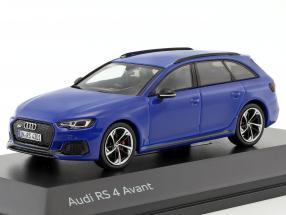 Audi RS 4 Avant Baujahr 2017 nogaro blau 1:43 Spark