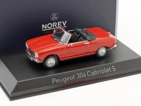 Peugeot 304 Cabriolet S year 1973 red 1:43 Norev