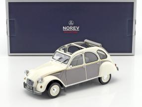 Citroen 2CV Dolly Baujahr 1985 weiß / grau 1:18 Norev