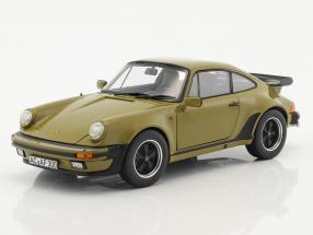 Porsche 911 (930) Turbo 3.3L coupe year 1977 olive green 1:18 Norev