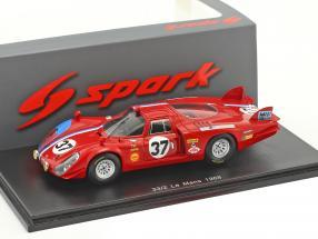 Alfa Romeo T33/2 #37 24h LeMans 1968 Pilette, Slotemaker 1:43 Spark