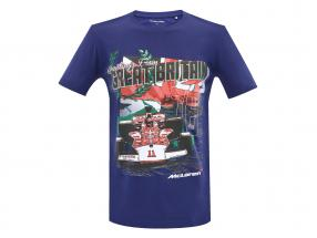 McLaren Greetings from Great Britain Emerson Fittipaldi McLaren M23 T-shirt blue