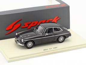 MGC GT year 1967 dark gray metallic 1:43 Spark