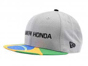 McLaren Honda Formel 1 2017 Alonso & Vandoorne Special Edition Brasilien Cap grau M/L