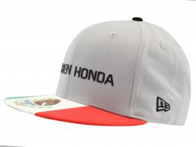 McLaren Honda Formel 1 2017 Alonso & Vandoorne Special Edition Mexiko Cap grau M/L