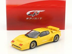 Koenig Specials Ferrari 512BBI Turbo Baujahr 1983 gelb 1:18 GT-Spirit
