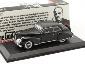 Lincoln Continental with Bullet Hole Damage Movie The Godfather 1972 black 1:43 Greenlight