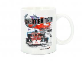 McLaren Greetings from Great Britain Emerson Fittipaldi McLaren M23 Tasse weiß