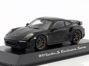 Porsche 911 (991) Turbo S Exclusives Series black metallic 1:43 Spark