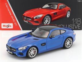 Mercedes-Benz AMG GT (C190) Baujahr 2015 blau 1:18 Maisto