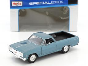 Chevrolet El Camino year 1965 blue metallic 1:24 Maisto