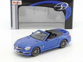 Mercedes-Benz SL 63 AMG Cabrio Baujahr 2012 blau metallic 1:24 Maisto