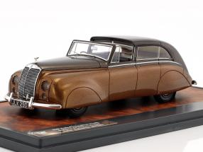 Rolls Royce Silver Wraith Sedanca de Ville by Hooper Baujahr 1947 braun metallic 1:43 Matrix