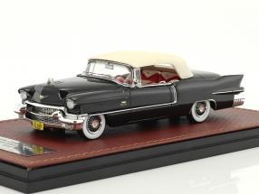Cadillac Eldorado Biarritz Convertible Closed Top year 1956 dark gray metallic / white 1:43 GLM