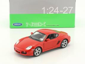 Porsche Cayman S year 2006 red 1:24 Welly