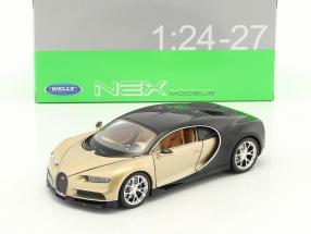 Bugatti Chiron Baujahr 2017 gold / schwarz 1:24 Welly