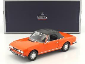 Peugeot 504 Cabriolet year 1970 orange 1:18 Norev