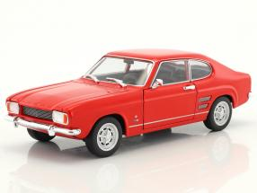 Ford Capri year 1969 red 1:24 Welly
