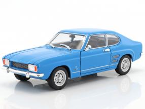 Ford Capri year 1969 light blue 1:24 Welly