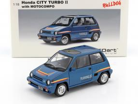 Honda City Turbo II 1983 blau mit Minibike in weiß 1:18 AutoArt