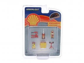 GL Muscle Shop Werkstattzubehör Shell Oil 1:64 Greenlight