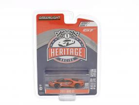 Ford GT Baujahr 2017 #3 Ford GT40 MK IV 1967 Tribute Racing Heritage Series orange 1:64 Greenlight
