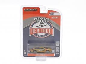Ford GT year 2017 #5 Ford GT MK II 1966 tribute Racing Heritage Series copper 1:64 Greenlight
