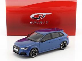 Audi RS3 Baujahr 2015 blau metallic 1:18 GT-Spirit