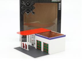 Vintage Gas station Chevron Mechanic's Corner Series 2 green version 1:64 Greenlight