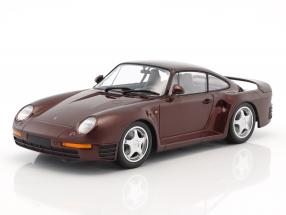 Porsche 959 year 1987 dark red metallic 1:18 Minichamps