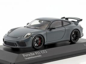 Porsche 911 (991 II) GT3 year 2017 graphite blue metallic 1:43 Minichamps