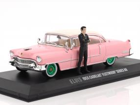 Cadillac Fleetwood Series 60 1955 pink - green rims With figure Elvis Presley 1:43 Greenlight