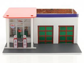 Vintage Tankstelle Chevron Mechanic's Corner Series 2 grüne Version 1:64 Greenlight