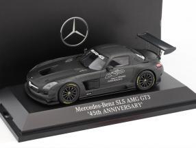 Mercedes-Benz SLS AMG GT3 45th Anniversary dark gray metallic 1:43 Minichamps