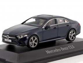 Mercedes-Benz CLS coupe (C257) year 2018 cavansite blue metallic 1:43 Norev