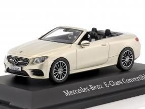 Mercedes-Benz E-Class Cabriolet (A238) year 2017 aragonite silver 1:43 iScale