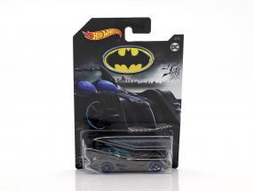 Batmobile DC Comics gray metallic with blue wheels 1:64 HotWheels
