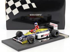 K. Rosberg riding on N. Piquet Williams FW11 #6 Sieger Deutschland GP F1 1986 1:18 Minichamps