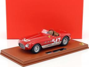 Ferrari 340 Spider Vignale #547 Winner Mille Miglia 1953 Marzotto, Crosara mit Vitrine 1:18 BBR