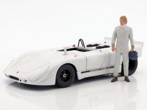 70 years racer figure With helmet in of the hand 1:18 FigurenManufaktur