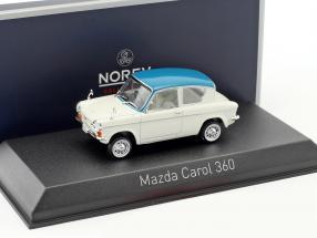 Mazda Carol 360 Baujahr 1962 weiß / hellblau 1:43 Norev