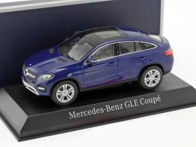 Mercedes-Benz GLE Coupe Baujahr 2015 blau metallic 1:43 Norev