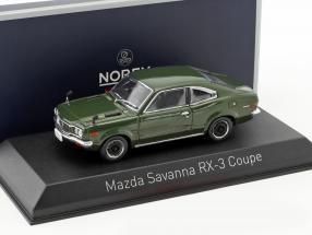 Mazda Savanna RX-3 Coupe Baujahr 1972 dunkelgrün 1:43 Norev