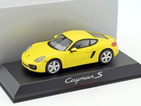 Porsche Cayman S 981 Baujahr 2013 gelb 1:43 Norev