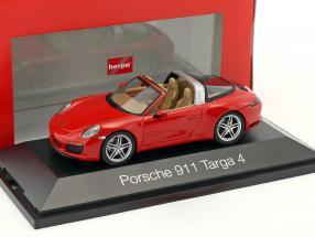 Porsche 911 (991 II) Targa 4S Baujahr 2016 rot 1:43 Herpa