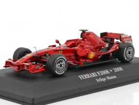 Felipe Massa Ferrari F2008 #2 2nd F1 2008 mit Vitrine 1:43 Atlas