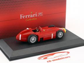 Juan Manuel Fangio Ferrari D50 #1 Weltmeister F1 1956 mit Vitrine 1:43 Atlas