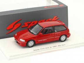 Honda Civic EF3 Si Baujahr 1987 rot 1:43 Spark