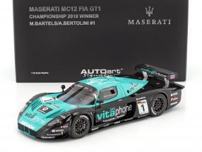 Maserati MC12 #1 Winner FIA GT1 Championship 2010 Bartels / Bertolini 1:18 AUTOart